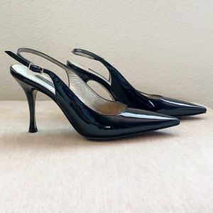 Dolce & Gabbana Black Patent Leather Pointed Heels